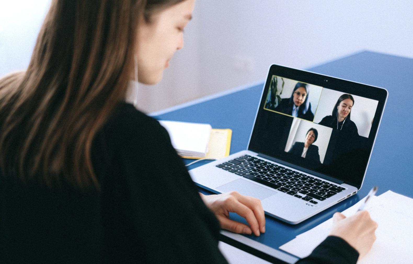 Women on video call